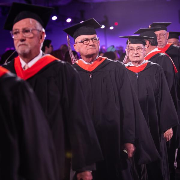The Old Guard members at Commencement