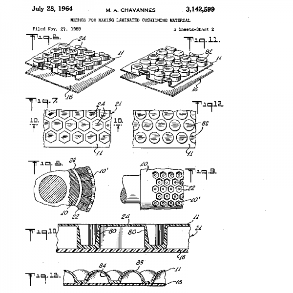 Bubble wrap patent illustration