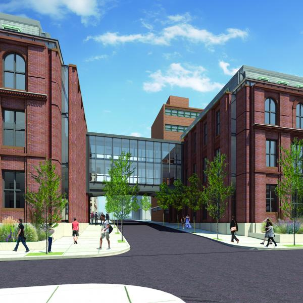Architectural rendering of Stevens' newly opened Gateway Academic Center