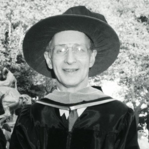 Portrait of the late Stephen Lukasik, a Stevens honorary degree recipient