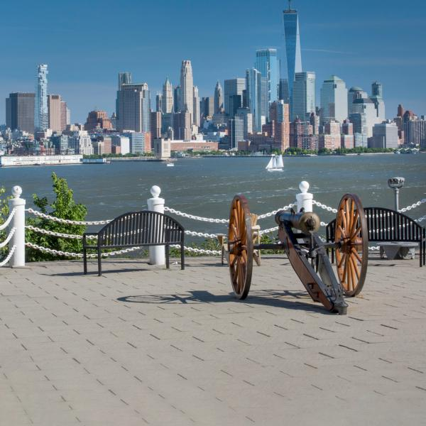Cannon on Castle Point at Stevens Institute of Technology