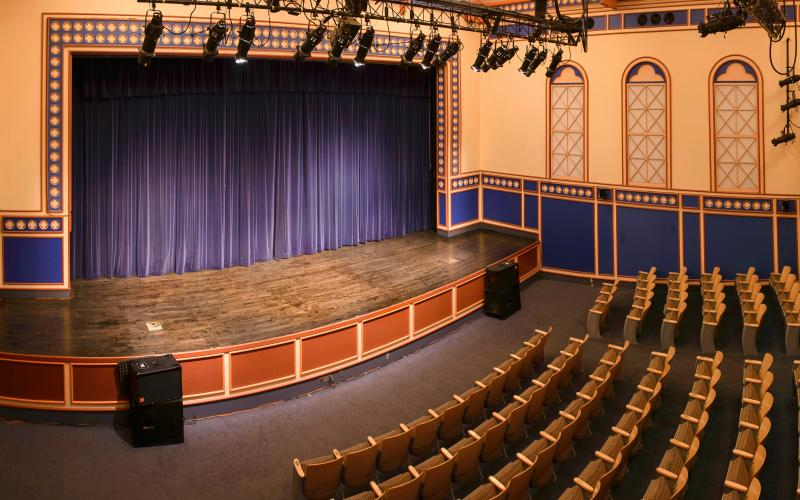 The stage at DeBaun Auditorium