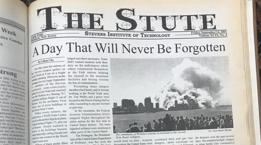 The Stute newspaper on a table